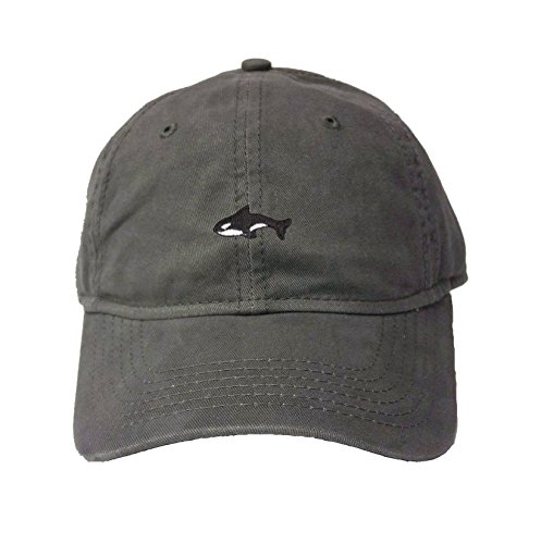 Adjustable Charcoal Adult Orca Killer Whale Embroidered Deluxe Dad Hat