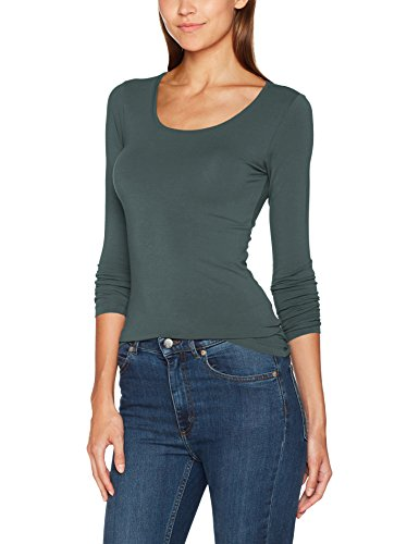 ONLY Damen Onllive Love New LS O-Neck TOP NOOS Langarmshirt, Grün (Balsam Green Balsam Green), 42 (Herstellergröße: XL)