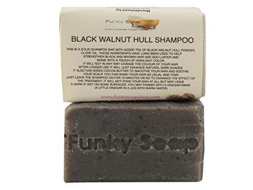 Funky Soap Schwarznuss Rumpf Shampoo, 100% Natürlich Handgemacht, 1 Stück 120 G