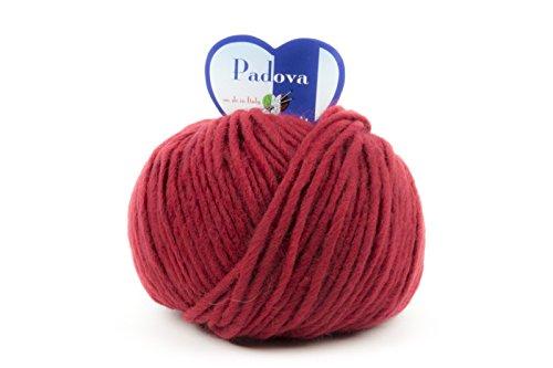 woolove Padova Filato in Alpaca e Lana per Lavoro a Maglia.7 Rosso
