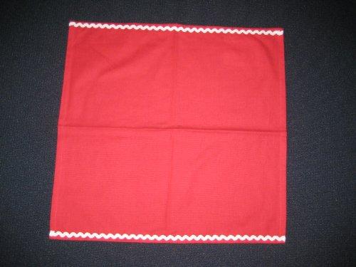 Ikea Deckchen Platzdeckchen Tegnea - rot mit weißer Borte - 45 x 45 cm
