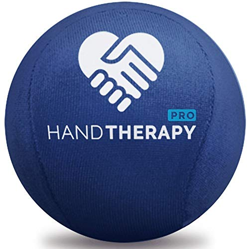 Stress Ball Hand Therapy Gel Squeeze Ball for Hand Stress and Therapeutic Relief, Grip Strength, Hand Mobility and Restoration (Navy)