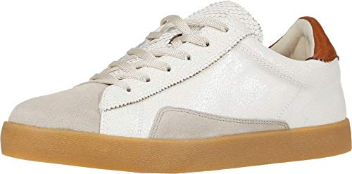 Sam Edelman Women's Prima Sneaker Bright White/ Greige/ Ginger Brown 7 Medium