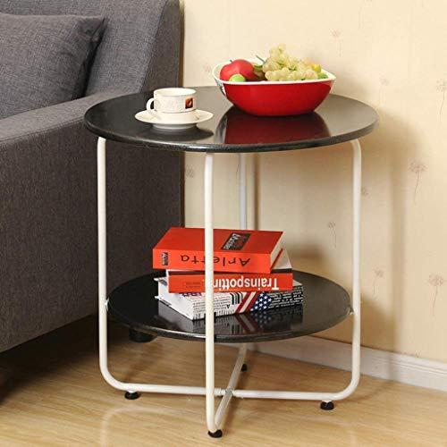 table basse table basse Nordic MDF Simplicité moderne Salon de loisirs balcon Côté (Couleur : C, taille : 60.5cm*60cm)