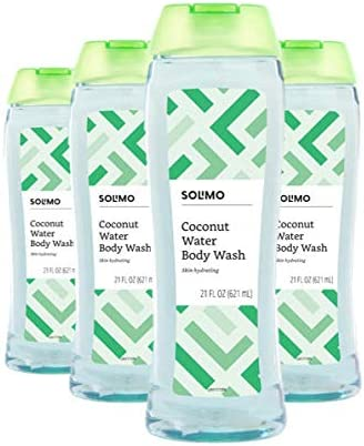 Amazon Brand Solimo Coconut Water Body Wash 21 Fluid Ounce Pack of 4 product image