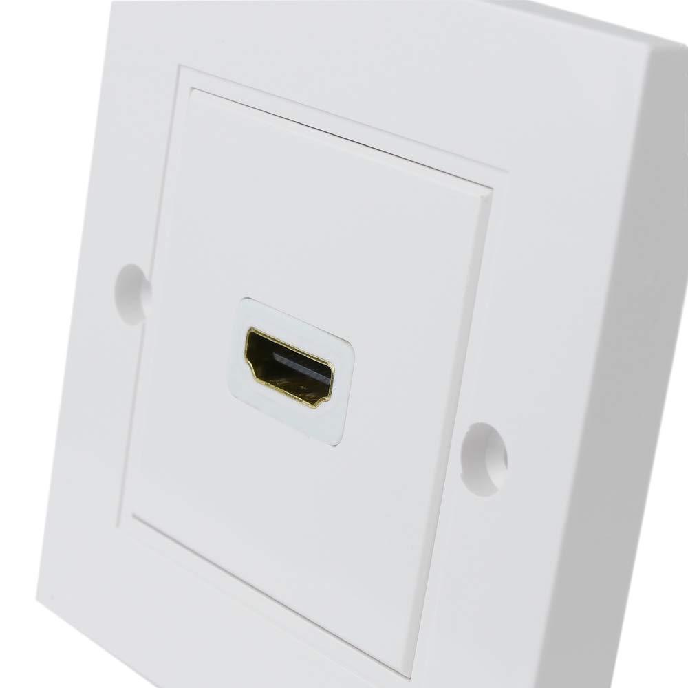 BeMatik - Caja de Pared canaleta 80x80 1 HDMI Hembra con Cable configurable: Amazon.es: Electrónica