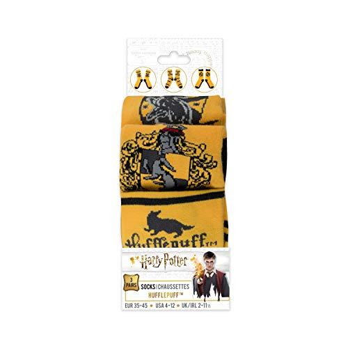 Cinereplicas Unisex 3er-Pack - Hogwarts-Haus socken - Schuh von 35 bis 45