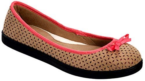 Dearfoams Step Out - Zapatillas de bailarina para mujer