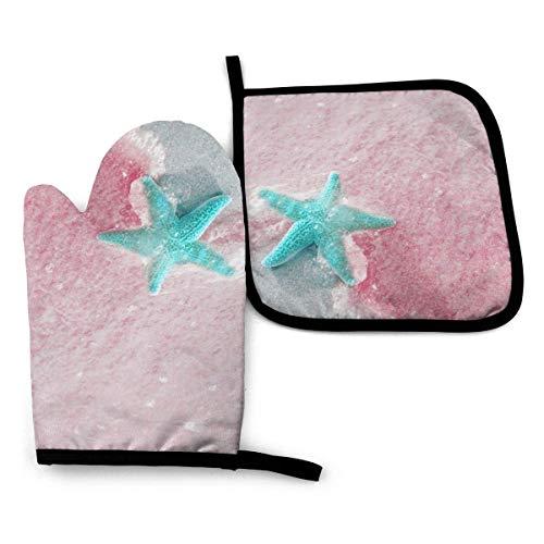 Royal Legacy Tropical Plant Pink Flamingo Summer012 Manoplas para Horno y Porta...