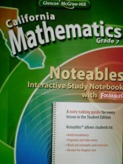 California Mathematics Grade 7 Noteables Interactive Study Notebook with Foldables