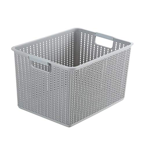 HDGAD opbergdoos, wasmand kunststof Home Storage Basket, waterdichte kleine dingen draagbare kleding speelgoed opbergdoos (klein) (kleur: Gray)
