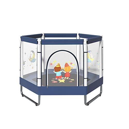 HAYN Trampolín para niños con gabinete de Seguridad Mini trampolín para al Aire Libre Indoor Family Backyard Escuela de Entretenimiento, MAX 300kg Edad 1-10