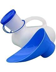 Colinsa Inodoro unisex de 1000 ml, para viajes, camping, orinal, orinal, material de polietileno, orinal, orinal, para hombres, niños, hombres y mujeres, con una tapa y tapón