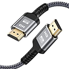 ⚡[4k High Definition HDMI Cable 6.6FT] Innovative improvement 4K HDMI Cable,Built with gold-plated connectors,and top American chips to ensure high-speed and flawless signal transmission,4K*2K Ultra HD technology with resolution up to 3840 x 2160 @ 6...