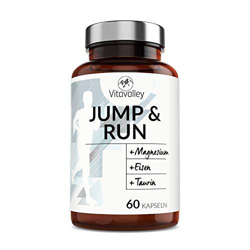 Premium Aminosäuren-Komplex mit 6 Mineralien & wichtige Vitamine für Sportler - Elektrolyte für Läufer - 60 Kapseln - für mehr Leistung & Regeneration - umweltfreundlich im Glasbehälter