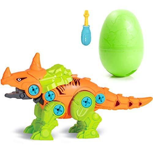 Happara Dinosaurier Montage Spielzeug, Stück Dino Spielzeug mit Schrauben Acanthosaurus Dinosaurier Ei DIY Gebäude Spielzeug Geschenke für Kinder Jungen Mädchen (Acanthosaurus)