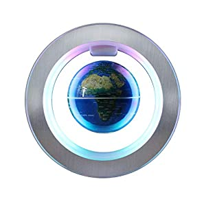 Magnetic Levitation Floating Globe - 4 inches Levitating O Shape Globe for Children Educational Gift Home Office Desk