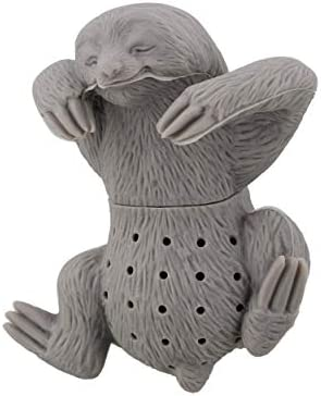 7Penn Gray Sloth In Cup Loose Leaf Tea Infuser Silicone Tea Strainer Small Reusable Tea Steeper product image