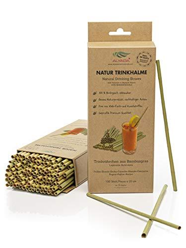 Cannucce naturali, cannucce in bambù, 20 cm, cannucce usa e getta, 100 pezzi, biodegradabili