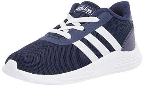 adidas Unisex-Kid's Lite Racer 2.0 I Sneaker, Dark Blue/FTWR White/core Black, 4K M US Big Kid