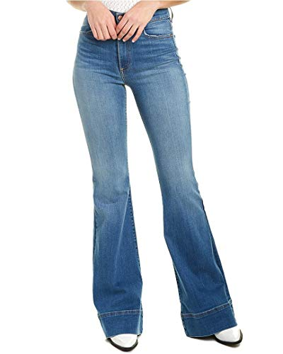 Alice + Olivia Womens Beautiful High-Rise Bell Bottom Jean, 26, Blue
