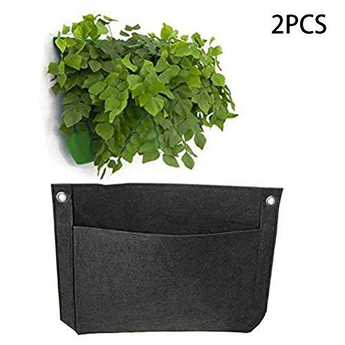 Verloco toilettas voor hangende planten, tas voor het kweken van groene planten, vilt, ruimtebesparend voor tuin, balkon, binnenplaats, 15 x 11 inch