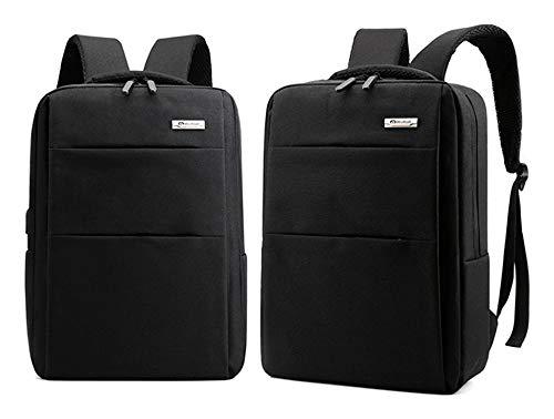 OO Car Mat Schulrucksack mit USB-Ladeanschluss und Kopfhörer-Schnittstelle, wasserabweisend, für Laptops unter 43,2 cm (17 Zoll) -  Schwarz -