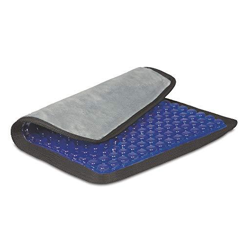 maxVitalis Gel-Sitzkissen mit Noppen 2 in 1 | Ergonomische Druckentlasung | Kühlender Effekt | 41 x 35 cm