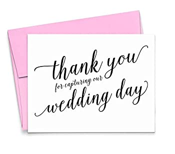 Thank You for Capturing Our Wedding Wedding Card to Your Photographer Wedding Thank you card Videographer 1 Greeting Card with envelopes - Your Choice