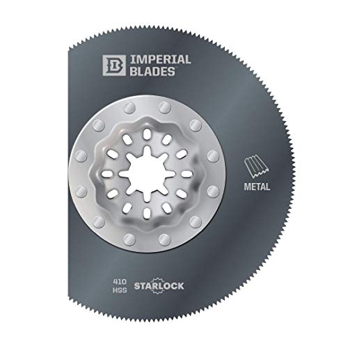 "Imperial Blades Starlock 3-3/8"" Thin Metal Segment Oscillating Multi-Tool Blade, 1PC (Fits: Bosch and Fein. Also fits non-Starlock multi-tools: Milwaukee, Ridgid, Makita, Rockwell and more), One Size (IBSL410-1)"