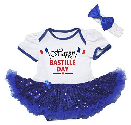 Petitebelle - Robe - Manches Courtes - Bébé (Fille) 0 à 24 Mois Bleu Bleu - Bleu - L
