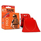 KT Tape Pro Kinesiology Therapeutic Sports Tape, Latex Free, Water Resistance, Pro & Olympic Choice, 20 Precut 10 inch Strips, Rage Red back support braces May, 2021