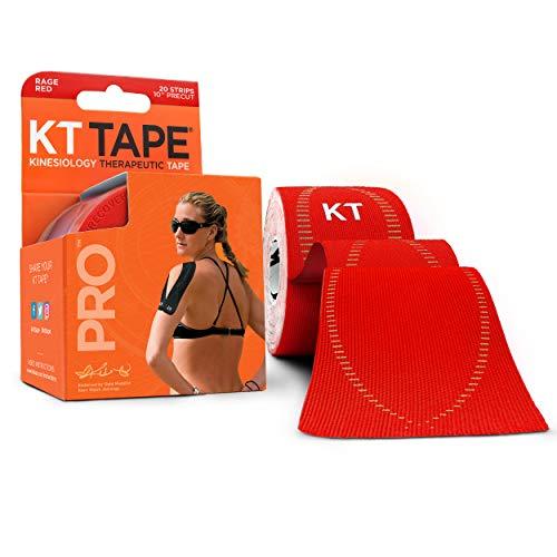 KT TAPE Pro, Vorgeschnittene, 20 Streifen, Synthetisch, Rot