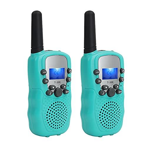 Funien Walkie Talkie,Walkie Talkie portátil de Mano para niños, radios de 2 vías, 3 km de Largo Alcance, Educativo, Interactivo, Regalo de cumpleaños para niños y niñas, Actividades para Interiores y