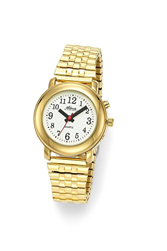 Sprechende Armbanduhr Damenuhr Gold 8915-9