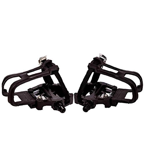Compatible with Peloton Bike Pedal Toe Clips Cage - Indoor Exercise Spin Bike Pedal Adapters -convert Compatible with Look Delta Pedals to Toe Clip Straps