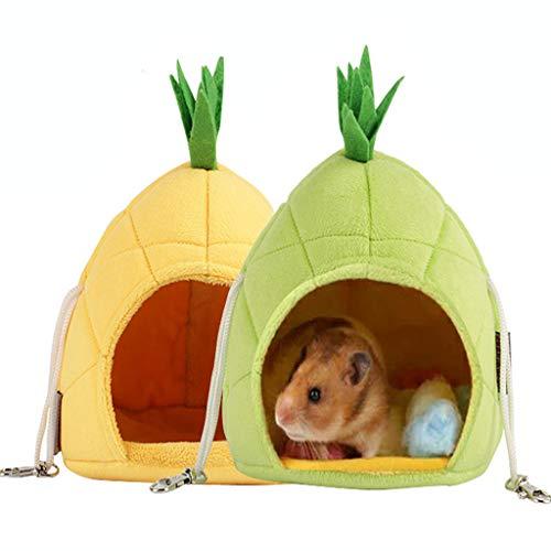 Estrella-L Casa de hámster, de ropa de cama de hámster, accesorios de jaula, hamaca, juguetes para animales pequeños, azucarero, ardilla, hámster, rata jugando a dormir, verde