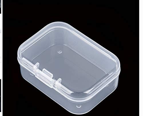 Mdsfe 4 maten transparant deksel kleine plastic doos voor kleine voorwerpen onderdelen gereedschap opbergdoos sieraden vitrine schroefdoos parels container nieuw - 55x40x20mm, China
