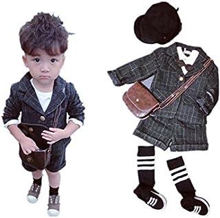 子供スーツ キッズ服 男の子衣装 半ズボン、コート 卒業式/入園式/発表会/七五三/フォーマル 80~120cm