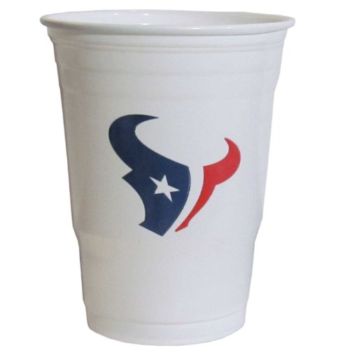 NFL Siskiyou Sports Fan Shop Houston Texans Plastic Game Day Cups 18 count Team Color