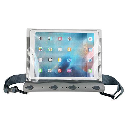 AQUAPAC Tasche iPad Pro Case wasserdicht, grau transparent, 35 x 28 x 2.8 cm, 19.6 Liter