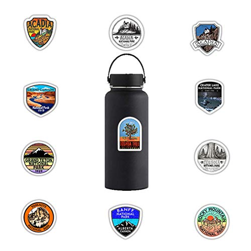ARPA 50Pcs National Park Stickers for Laptops Books Cars Motorcycles Skateboards Bicycles Suitcases Skis Luggage Cup Hydro Flasks etc DWJ