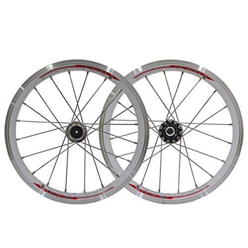 TYXTYX Rueda de Ciclismo BMX Juego de Ruedas de Bicicleta de 16 Pulgadas Llantas 559x20 Freno de llanta con piñón 11T para niños/Bicicleta Plegable