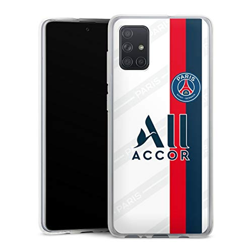 DeinDesign Silikon Hülle kompatibel mit Samsung Galaxy A71 Case transparent Handyhülle Paris Saint-Germain Trikot PSG