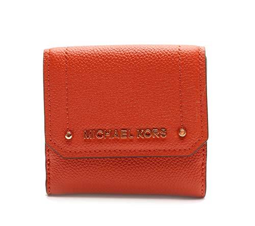 Michael Kors Geldbörse - ORANGE - MK Logo - 10x10x3cm - Echtes Leder - Damen - Modell: Hayes