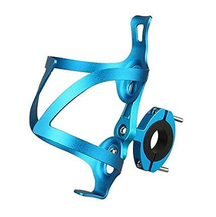 Nsoar Soporte para botellas de agua de aleación de aluminio, ligero y fuerte soporte para botellas de bicicleta de carretera y montaña, accesorios para botellas (azul)