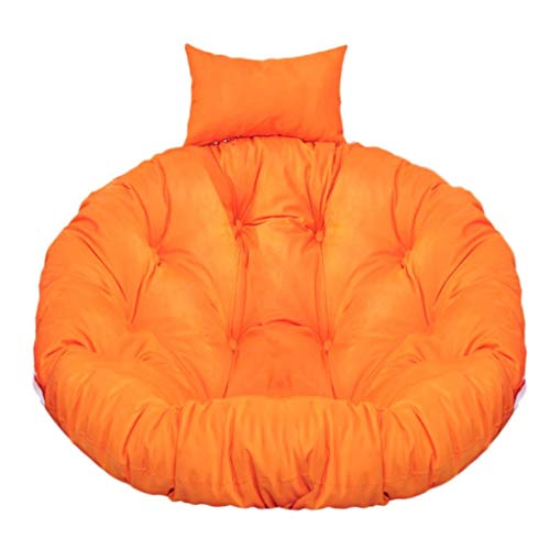 Department Store Sitzkissen Stuhl Sitzkissen Round Stuhl Pad Indoor Outdoor Sitzkissen for Hammock Hanging Basket Schaukel Stuhl Schaukelstuhl Sitz (Color : Orange)
