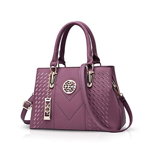 NICOLE & DORIS Damenhandtaschen Handtaschen Topgriffe Schultertasche Umhängetaschen Klassische Handtaschen von Frauen Lila