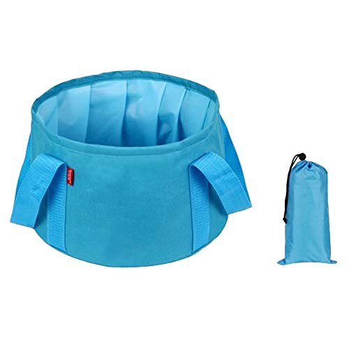 YSYDE Multifunktionale zusammenklappbare tragbare Reise-Außenwaschbecken faltender Eimer für Camping Wandern Reisen Angeln Waschen Ultraleicht zusammenklappbar und einfach