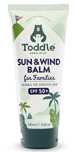 Toddle Sun and Wind Balm — Kids SPF 50+ Sunscreen, Vegan Suncream, UVA and UVB Sun Protection, Suitable for Sensitive Skin